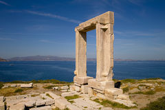 Door of Naxos. The antique Portara gate, Naxos island, Greece Stock Images