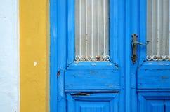 Door in Naxos` Island Royalty Free Stock Photos