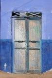 Door in a Nubian village Stock Image