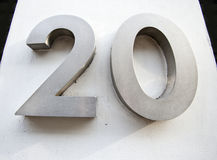 Door Number of 20 Stock Photo