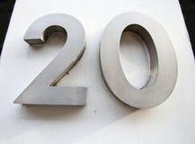 Door Number of 20 Stock Photo