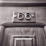 Door. Number 66 Royalty Free Stock Images
