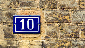Door number 10 Royalty Free Stock Images