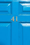 Door number 41 close up Stock Images