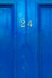 Door numer 24. Close up of door number 24 for background and greeting cards stock images