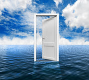 Door on the ocean Royalty Free Stock Image