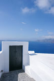 The Door of the ocean. In Santorini island, Greece Royalty Free Stock Photography
