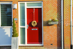 Door office of the company Harrie and Lyke Krul in Meerkerk Royalty Free Stock Image