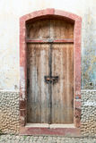 Door of the old abandoned house Stock Photos