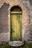 Door of old abandoned irish cottage Royalty Free Stock Image
