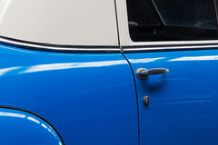 Door of the old blue car Royalty Free Stock Photography