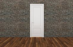 Door on old brick wall, 3d Royalty Free Stock Image