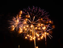 A large Fireworks Display event. Rataya in Thailand Royalty Free Stock Photo