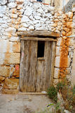 Door of an old building in Malia. Stock Photography