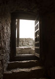 Door of of an old castle room Royalty Free Stock Photos