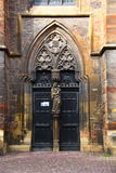 the door of old church in Colmar Royalty Free Stock Images