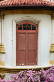 The door at old house in Singapore Royalty Free Stock Image