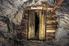 Door in old mine. Door in an old gold mine royalty free stock photo