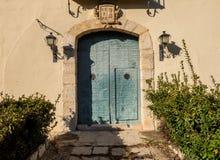 Door of old monastery in Spain stock images