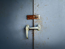 Door old rusty lockers Stock Photography