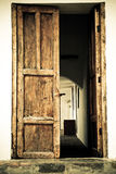Door of an old spanish hacienda color processed Royalty Free Stock Image