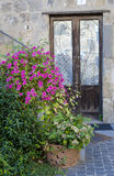 Door in old stone house, , Italy Royalty Free Stock Photos