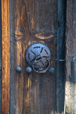 Door in old traditional bulgarian house Stock Image