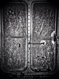 The door of the old train bogie Stock Photos