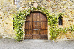 Door of an old villa Royalty Free Stock Photography