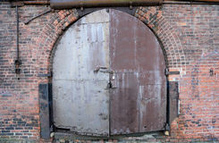 Door of an old warehouse in New York Stock Image