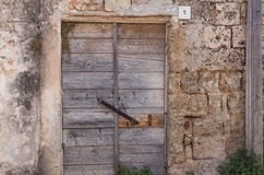 Door old wooden abandoned daylight Royalty Free Stock Photography