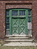 Door. Old wooden doors on an abandoned building Royalty Free Stock Photo