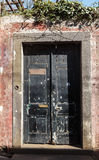 Door. Old wooden door.  Funchal. Madeira island, Portugal Royalty Free Stock Photography