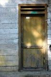 The door. The old wooden door at home Stock Photo