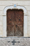 Door. Old wooden door in Prague Stock Photos