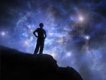 Door ontberingen aan de sterren stock afbeelding