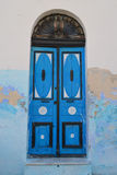 Door. Oors painted bright colors in the Arab style in the Mahdi Tunis. Photo taken 12.10.2012 Stock Images