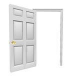 Door Open Invitation Come Inside Blank Copy Space Your Message Stock Photo