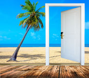 Door open palm beach Stock Photo