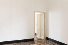 Door open of a room Stock Image