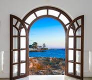 Door open sea Royalty Free Stock Image