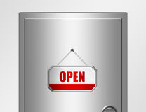 Door and open sign Royalty Free Stock Images