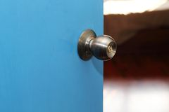 Door open to the bedroom Royalty Free Stock Photography