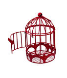 Door Open to Birdcage. Door open to a birdcage that is used to keep a pet bird comfortable - path included Stock Photography