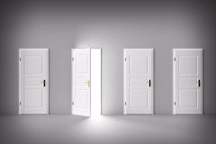 Door open to the light, new world, chance or opportunity. Royalty Free Stock Images