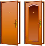 Door opened Stock Photo