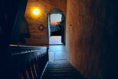 Door Opened At Night Royalty Free Stock Photo