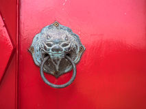 The door opener at Marble temple, Bangkok Thailand. Royalty Free Stock Images