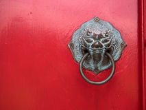 The door opener at Marble temple, Bangkok Thailand. Stock Image