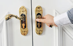 Door opening Royalty Free Stock Photo
